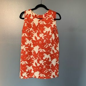 Forever 21 Floral Dress Orange & White Medium